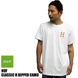 HUF ハフ 半袖 Tシャツ tee メンズ レディース ユニセックス CLASSIC H DEPPED TEE 迷彩 カモ ホワイト 白 スケーター ストリート系 ファッション 大きいサイズ アメリカ USA 無地