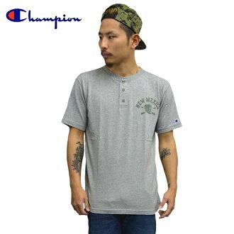 Champion冠军短袖T恤足球亨利颈T恤校园图像棉布T恤灰色印第安招待派人分歧D备件外观糖果舵