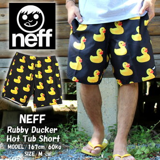 Neff Neff swim pants swimwear duck RUBBER DUCKY HOT TUB SHORT MULTI 16P56012 Beach shorts swimwear summer summer surf fashion Neopolitan colorful men's fashion shorts men ice pattern Beach Pocket ships the same day