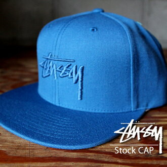 STUSSY ステューシースナップバックキャップ hat CAP embroidery blue BLUE メンズレディーススケボースノボーベースボールキャップ constant seller model stock logo sports dance street system fashion 131650