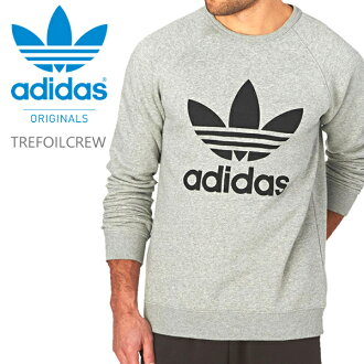 Fashion of アディダスクルートレーナーグレートレフォイル ADIDAS ORIGINALS TREFOIL CREW BK5866 back raising raglan sleeves thermal insulation-related warm men's fashion Lady's pair look logo dance hip-hop street origin