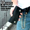 Wallet wallet chain leather goods cloth Dogtown×suicidal suiLeather Chain Wallet black skater Dogtown suicidal presents rare