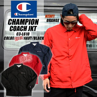 02de54646d1f3 Champion coach jacket outerwear new champion action-style tip men fashion  logo embroidery mountain C3-J611 fluffy repellent water red black Navy  Black Red ...