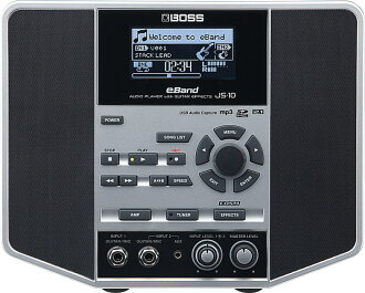 And the BOSS boss audio player with guitar effects eBand JS-10