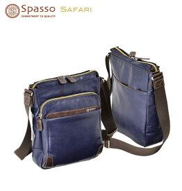 ショルダーバッグ 縦型 Spasso safari スパッソ サファリ No:4-343 メンズ レディース 縦型 ショルダー 小分けポケット カジュアル デニム チノパン お散歩 街歩き エンドー鞄