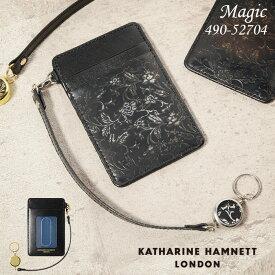 キャサリンハムネット パスケース メンズ KATHARINE HAMNETT マジック 490-52704 本革 財布