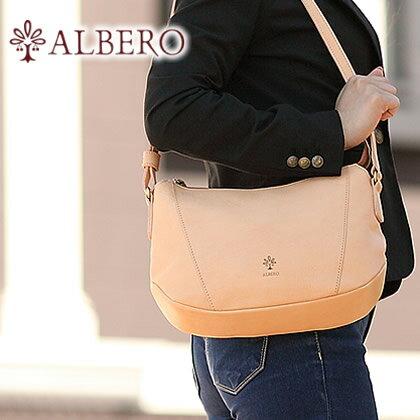 アルベロ ALBERO レディース バッグ ショルダーバッグ ショルダー 2WAY ヌメ革 日本製 ナチュラーレ NATURALE 2059 WS