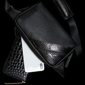 【池田工芸】日本最大のクロコダイル専門店が贈るCrocodile Body Bag(クロコダイル ボディバッグ) 【次回出荷日8月22日頃】