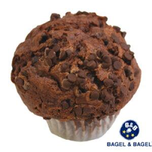 『Wチョコチップマフィン【単品】』BAGEL&BAGEL/チョコ/チョコチップ/マフィン/おやつ/スイーツ