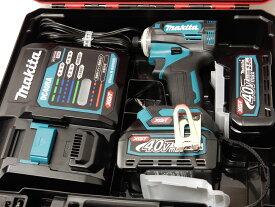 電池2個/充電器/ケース/本体【未使用】マキタ/makita 40V 2.5Ah 充電式インパクトドライバ TD001GRDX ブルー【中古】【新古】【新品同様】