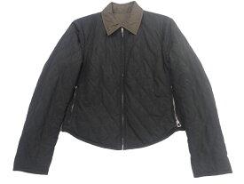 エルメス(HERMES) リバーシブル 中綿 ジャケット Sサイズ ブラック/ブラウン レディース ブルゾン キルティング ジップアップ【中古】
