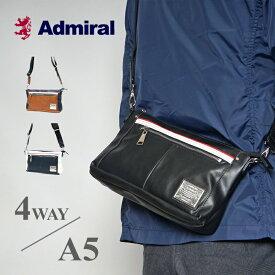 アドミラル 4way ボディバッグ メンズ レディース ブランド ワンショルダーバッグ ブラック 斜めがけ PU レザー 撥水 軽い 薄型 [新作/公式] Admiral ADDA-02 プレゼント ギフト バレンタインデー