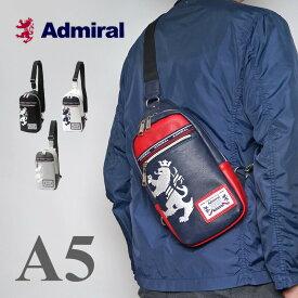 アドミラル ボディバッグ メンズ レディース ブランド ワンショルダーバッグ ブラック 斜めがけ PU レザー 撥水 軽い 薄型 [新色/公式] Admiral ADGA-01 プレゼント ギフト バレンタインデー