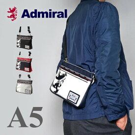 【5の付く日限定ポイント最大24倍】アドミラル 横型 ショルダーバッグ メンズ レディース ブラック A5 ブランド 斜めがけ バッグ PU レザー 撥水 軽い 小さい おしゃれ [新作/公式] Admiral ADGA-10 プレゼント ギフト