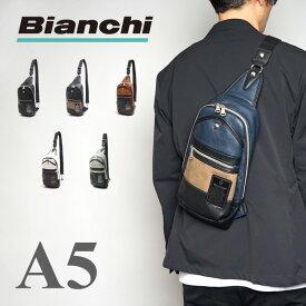 【5の付く日限定ポイント最大24倍】[公式] ビアンキ ボディバッグ Bianchi ワンショルダーバッグ メンズ レディース PU レザー 革 ブラック 他全6色 TBPI-02 プレゼント ギフト[一部カラー先行予約]