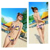 It is pool sea beach for 40 generations for 30 generations for swimsuit Lady's bikini dress three points set floral design swimsuit separate swimsuit 7 9 11 ladies woman entering pretty swimwear figure cover swimsuit wire bra floral design halterneck sex
