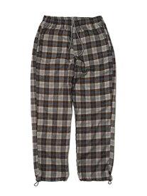 モーレー MONTLEY パンツ ボトムス ロゴ メンズ ユニセックス ストリート 定番 人気 男女兼用 1-3 CHECK PANTS -GREY-