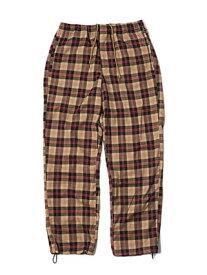 モーレー MONTLEY パンツ ボトムス ロゴ メンズ ユニセックス ストリート 定番 人気 男女兼用 1-3 CHECK PANTS -BEIGE-