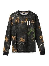 ハフ HUF リアルツリー クラシック ロゴ 長袖 Tシャツ REALTREE CLASSIC H LS TEE -BLACK- メンズ M-L ブラック