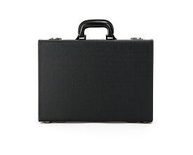 青木鞄 アタッシュケース ビジネス バッグ メンズ 日本製 GAZA ガザ カーボン柄 合成皮革 6252 黒 4収納可 一部パーツ5年保証つき