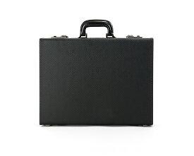 青木鞄 アタッシュケース ビジネスバッグ メンズ GAZA ガザ 6253 黒 カーボン柄 合成皮革 日本製 B4収納可 一部パーツ5年保証つき