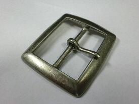 ベルト幅50mm用 スクエアバックル (シルバー)真鍮製 ブラス 馬具職人工房