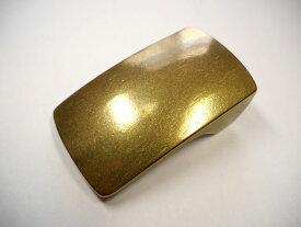 真鍮無垢製 ベルト幅40mm用 超重厚プレートバックル (ゴールド ブラス) 馬具職人工房