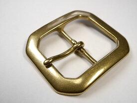 ゴールドブラス 真鍮無垢製 ベルト幅40mm用 八角スクエアバックル 馬具職人工房