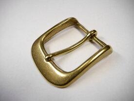 真鍮無垢 ベルト幅40mm用 通しバックル (ゴールド ブラス) 馬具職人工房