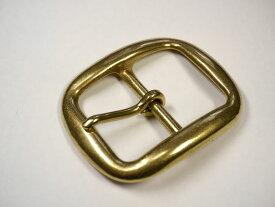 真鍮無垢 ベルト幅40mm用 シングルピンバックル (ゴールド ブラス)馬具職人工房