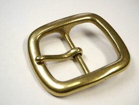 真鍮無垢製 ベルト幅40mm用 重厚なゴールドバックル 馬具職人工房
