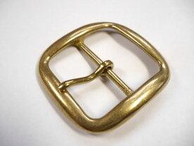 真鍮無垢 ブラス ベルト幅50mm用 バックル (ゴールド) 馬具職人工房
