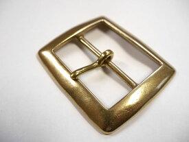 ベルト幅50mm用 スクエアバックル (ゴールド)真鍮無垢 ブラス 馬具職人工房