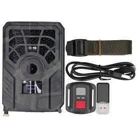 【送料無料】最新型 PR300C+WIFI APP連続機能 ハンティングトレイルカメラ 人感センサー 防犯カメラ 24MP 120°撮影範囲 0.2秒動き検知スピード ビデオハンティングカム 1296P 高画質 500万画像 IP54防水 防塵 不可視赤外線LED搭載 野外監視カメラ 電池式 屋外 駐車場適用
