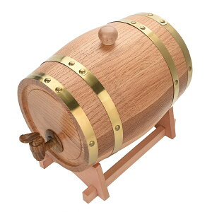 送料無料 3L オーク樽 ワイン樽 ワインバレル ワインバケツ ウィスキー 発酵酒 ビール樽 樽バケツ スタンド付き 醸造 木製 ストレージ 酒収納用品 ホテル レストラン 装飾 家庭用