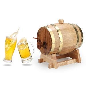 送料無料 1.5L オーク樽 醸造装飾 ワイン樽 ワインバレル ワインバケツ 発酵酒 ミニビール樽 樽バケツ 醸造 木製 ストレージ 酒収納用品 レストラン 家庭用