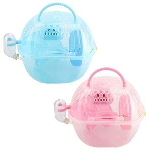 送料無料 ハムスターキャリー ペットキャリアケージ 二層 プラスチック 給水器付き 通気性 外出 ラット・ハムスター・マウス・リス・チンチラ・ハリネズミに適用 移動 旅行 お出かけ