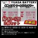 2個セット ■ 台湾 YUASA (ユアサ) NP40-12B【 NP38-12 互換 】 セニアカー対応バッテリー ■ SER38-12 SC38-12 HC...