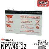 台湾YUASAユアサNPW45-12シールドバッテリーUPS交換用【互換12SN7.5NP7-12NPH7-12PE12V7.2PXL12072】