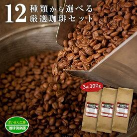 【送料無料】★12点の珈琲豆から選べる福袋!計300g3点セット★焙煎具合や挽き具合も選べるのは当店だけっ♪(coffee-0001)