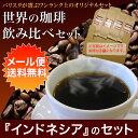 【送料無料】【お好みの焙煎します】メール便『インドネシア』 のセット コーヒー 珈琲  Coffee メール便10P03Dec16【RCP】