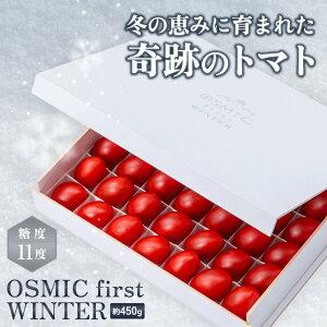 【トマトグランプリ総合優勝】オスミックトマト OSMIC first WINTER 約450g ミニ プレミアム 糖度11 国産 フルーツトマト 高糖度 最高級 最高品質 OSMIC TOMATO プレゼント ギフト 高級 トマト 贈り物