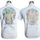 BIG メキシカンスカル/ドクロ/ポロシャツ/XS〜5L/プリントポロシャツ【夏新作】【メンズ】【ゴルフウェア】大きいサイ…