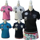 ladiesラインリブゴルフポロシャツ/S〜Lドクロポロシャツ【夏新作】【メンズ】【ゴルフウェア】大きいサイズ/golf/限…