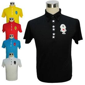 mojaGOLFポロシャツ/S〜5Lmもこもこワッペンポロシャツ【夏新作】【メンズ】【ゴルフウェア】大きいサイズ/golf/限定/お洒落/