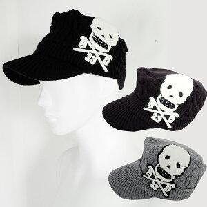 ニットスカルワークキャップ帽子キャップ【数量限定】【ゴルフ】大きいサイズ/帽子/キャップ/CAP/GOLF