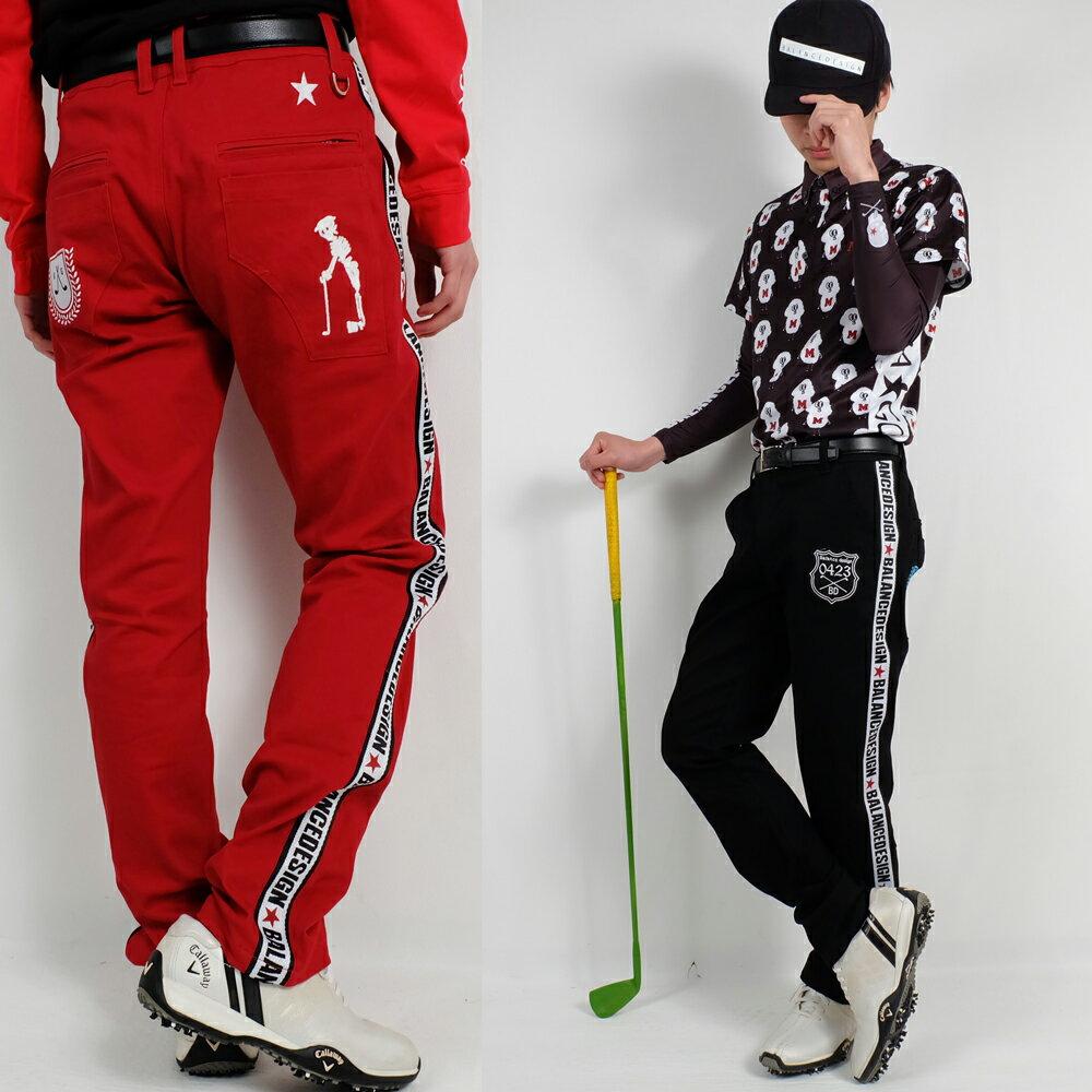 新作春ラインパンツ/大きいサイズ/BIGパンツ/スカル【メンズ】【ゴルフウェア】ズボン パンツ 男性 BALANCEDESIGN ゴルフズボン メンズウェア大きいサイズ/golf/限定/お洒落/