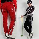新作春ラインパンツ/大きいサイズ/BIGパンツ/スカル【メンズ】【ゴルフウェア】ズボン パンツ 男性 BALANCEDESIGN…
