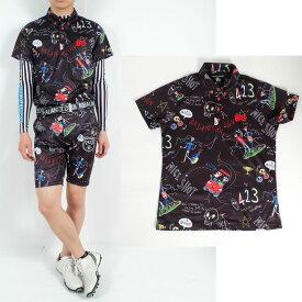 2019,MiyakoKawaguchi ゴルフポロシャツ/M〜6Lドクロポロシャツ【夏新作】【メンズ】【ゴルフウェア】大きいサイズ/golf/限定/お洒落/