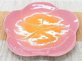 【Jenggala・ジェンガラ】◆フランジパニ型プレートピンク28cm◆(アジアン食器・お皿・卓上テーブルアイテム・バリプレミアム)